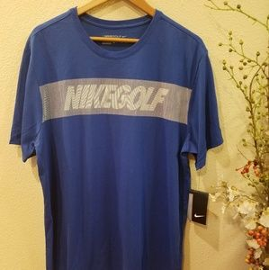 Nike Golf Logo Blue T-shirt Size XL